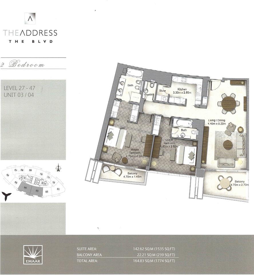 emaar the address residences the blvd boulevard dubai