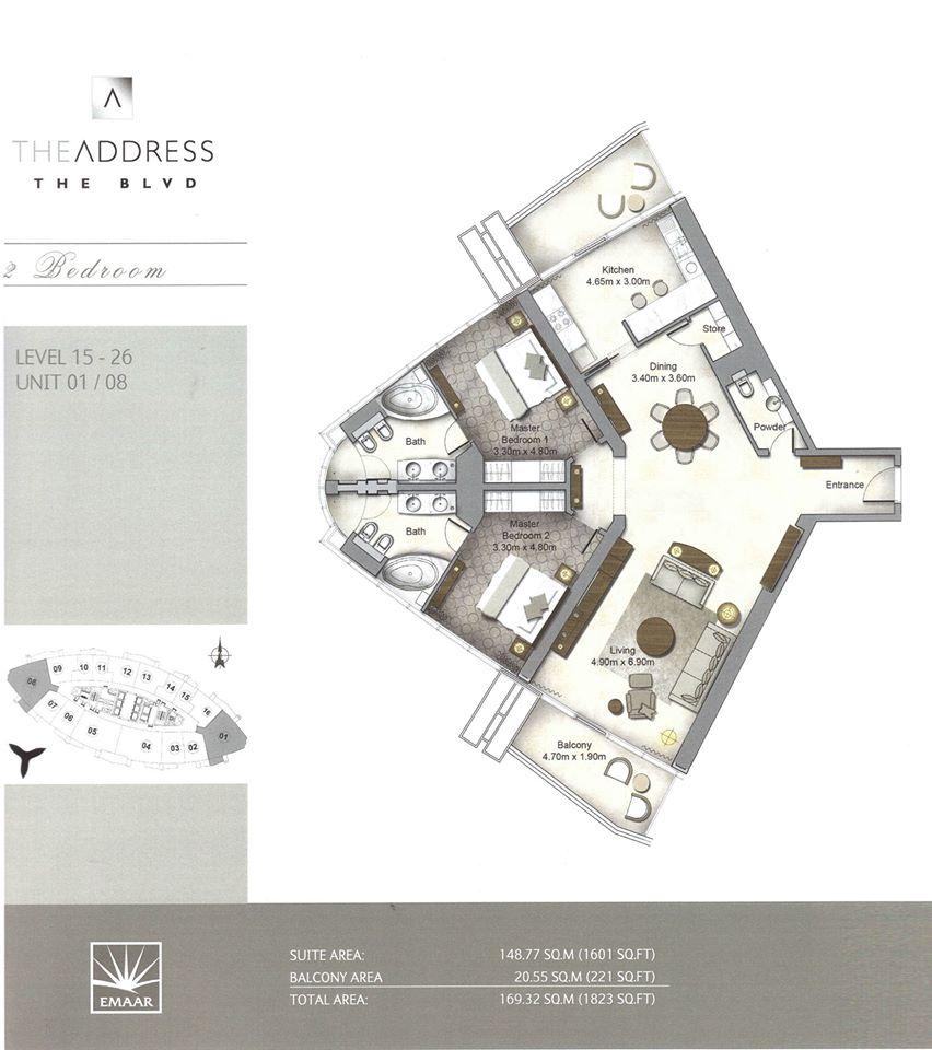 Emaar The Address Residences The Blvd Boulevard Dubai Dubai International Real Estate Broker