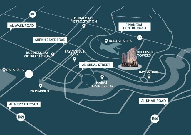 Bellevue Towers location